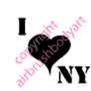 0244 I love new york reusable stencil